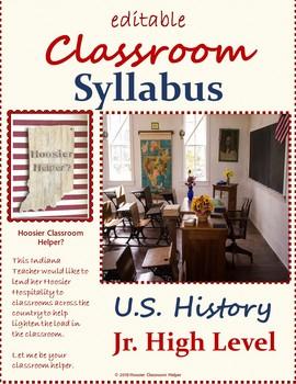 Editable Syllabus 8th Grade U.S. History