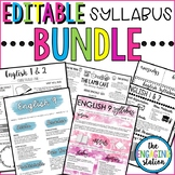 Editable Syllabus BUNDLE