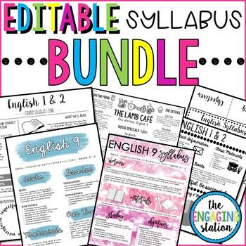 Editable Syllabus BUNDLE