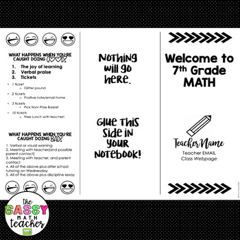 Editable Syllabus Brochure for Interactive Notebooks or Back to School Night