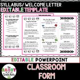 Editable Syllabus Brochure - Interactive Notebooks - Back to School Night
