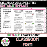 Editable Syllabus Brochure for Interactive Notebooks or Ba