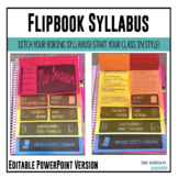 Editable Syllabus Flipbook {Infographic}