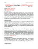Editable Syllabus - High School English (English and Spani