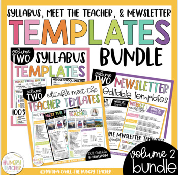 Editable Syllabus, Meet the Teacher, Newsletters, Genre Posters, & Labels Bundle