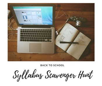 Editable Syllabus Scavenger Hunt