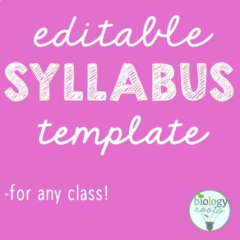 Editable Syllabus Template