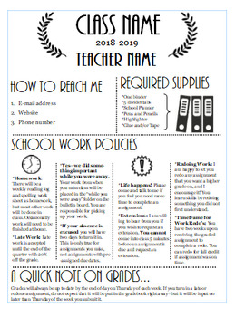 Editable Syllabus Template