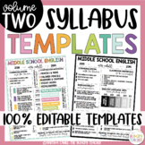 Editable Syllabus Template {6 Different Editable Syllabus Infographic Templates}