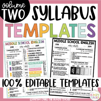 Editable Syllabus Template {6 Different Editable Syllabus Infographic Templates}