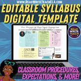 Editable Syllabus / Class Expectations / Meet the Teacher
