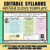 Editable Syllabus / Class Expectations / Meet the Teacher