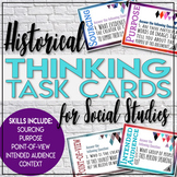 Thinking like a Historian Task Cards Social Studies Primary Secondary Sources