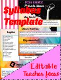Editable Syllabus Template (includes video tutorial)