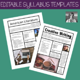 Editable Syllabus Templates