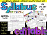 Editable Syllabus + Welcome Note + Agreement / Contract