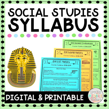 Editable Syllabus for Social Studies
