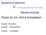 Editable Systems of Equations & Matrices School Scavenger Hunt