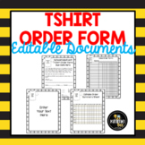 Editable T-shirt Order Form