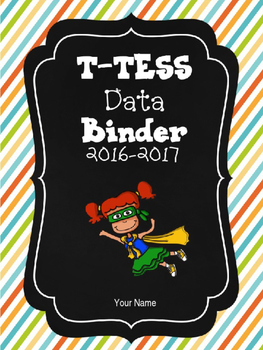 Editable T-TESS Data Binder and Cover Sheets