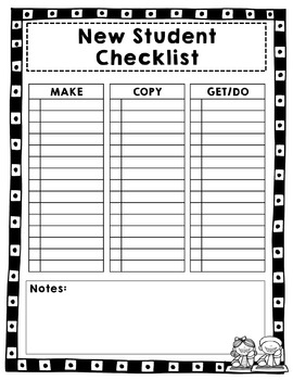 Editable TEACHER Check List