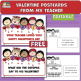 Editable TEACHER POSTCARD Freebie (Karen's Kids Printables)