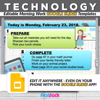 editable technology google slides templates by flapjack educational