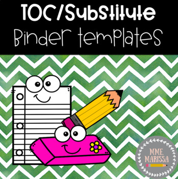 Editable TOC/Substitute Binder and Plans