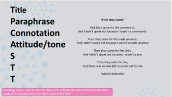 Editable TPCASTT PowerPoint