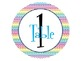 Editable Table Numbers (labels) Rainbow Chevron
