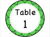 Editable Table Signs