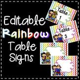 Editable Table Sings