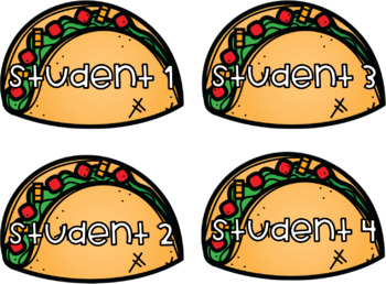 Editable Taco Labels/ Name Tags
