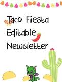 Editable Taco Newsletter