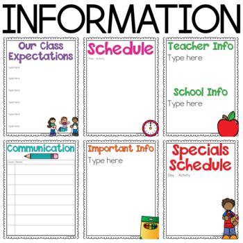 Student Take Home Binder for Parent Communication {Completely Editable}