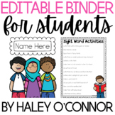 Student Take Home Binder for Parent Communication {Complet