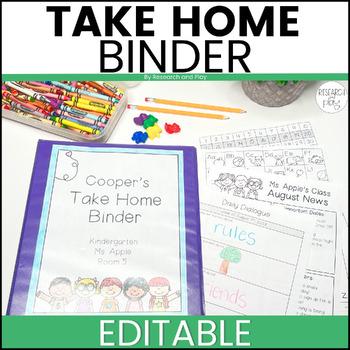 Editable Take Home Binder: Class Kids Theme