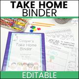 Editable Take Home Binder: Black and White Decor Theme