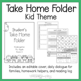 Editable Take Home Binder: Black and White Decor Theme