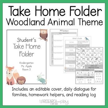 Editable Take Home Binder: Woodland Theme