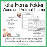 Editable Take Home Folder: Woodland Animal Theme