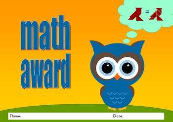 Editable Tangram Certificate / Diploma / Award - Owl 1 & 2