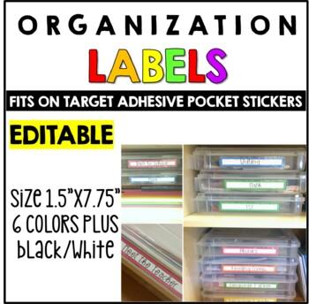 Editable Target Long Pocket Labels