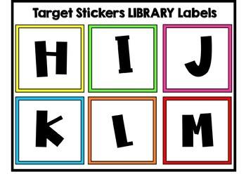 Editable Target Square Pocket Labels