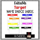 Editable- Target Name Badges -2018