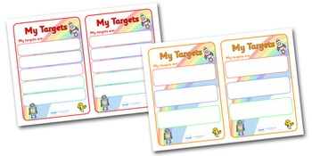 Editable Target/Learning Objective Book Labels