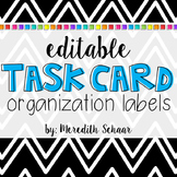 Editable Task Card Container Labels