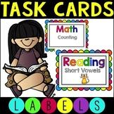Editable Task Card Labels