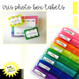 Task Card Labels (Editable) By Subject