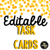 Editable Task Card Set Template with Student Answer Sheet